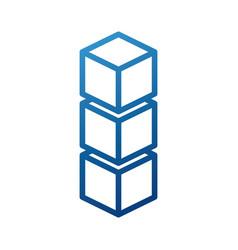 Blockchain business technology digital concept vector