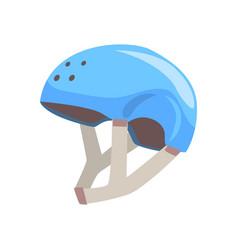 blue sport helmet cartoon vector image