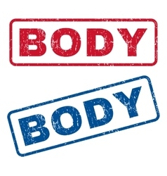 Body rubber stamps vector