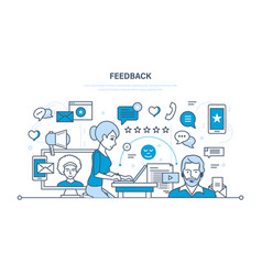 communications support and feedback analysis vector image vector image