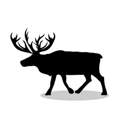 Deer northern black silhouette animal vector