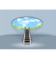 escalator in sky vector image