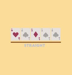 flat icon on stylish background cards straight vector image