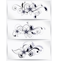 floral design element with swirls for spring vector image vector image