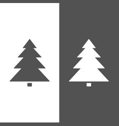 isolated christmas tree icon on black and white vector image vector image