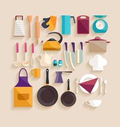 Kitchenware set vector