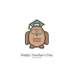 knowledge owl vector image