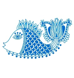 Marker drawing of decorative doodle fish vector