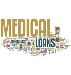 Medical loans what to do when you need money for vector