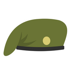 Military cap icon isolated vector