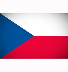 National flag of the Czech Republic vector image