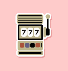 Paper sticker on stylish background slot machine vector