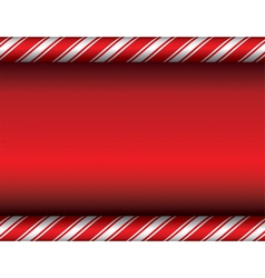 Red Candy Cane Christmas Background vector image vector image