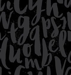 Seamless pattern letters vector image vector image