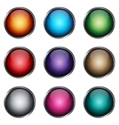 Set glossy buttons vector image vector image