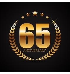 Template logo 65 years anniversary vector
