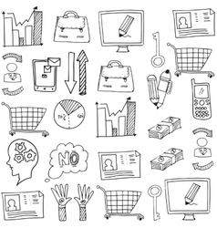 Doodle of business object vector