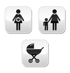 baby pram buttons vector image