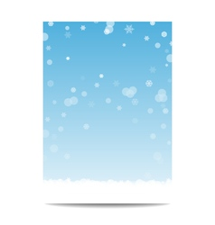 Winter vertical banner template background with vector
