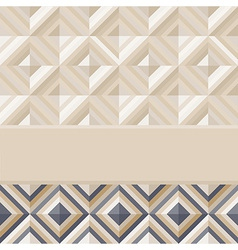 Fashion geometrical pattern with diamonds vector