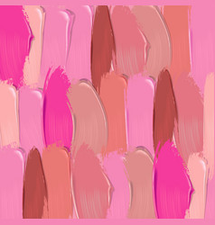 lipstick smears background vector image