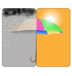 sunnyrainy vector image