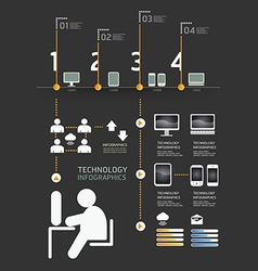 Infographics set and information technology graph vector