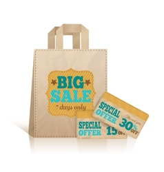 Big carry paper shopping bag vector