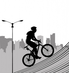 Bike and city vector