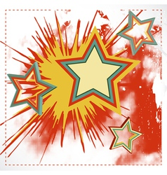 Background of explosion star vector