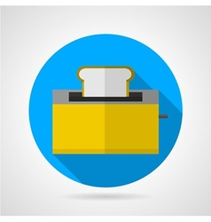 Flat icon for yellow toaster vector