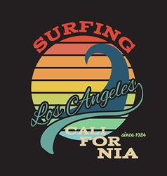 California surf t-shirt graphics vector