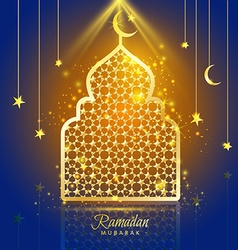 Greeting card ramadan kareem design with vector
