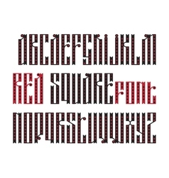 The latin stylization of old slavic font vector