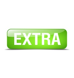 Extra green square 3d realistic isolated web vector