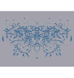 Abstract floral butterfly ornament vector image