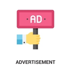 advertisement icon concept vector image vector image