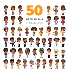 African american characters vector