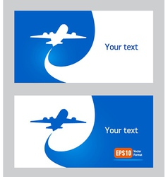 Airplane flight tickets air fly cloud sky blue vector