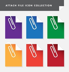 attach file icon set collection for web vector image