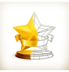 Award half stars vector image
