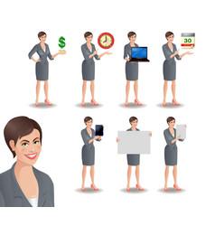 Business woman set2 vector