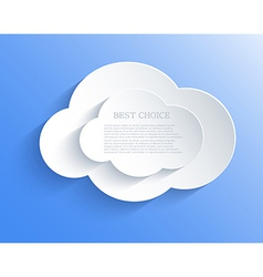 cloud design element with place for your text vector image vector image