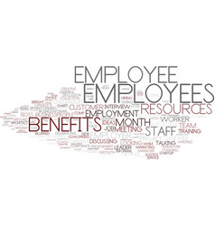 employees word cloud concept vector image