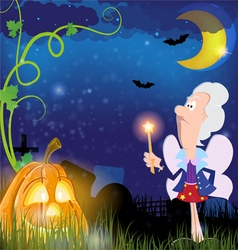 Fairy Godmother and pumpkin vector image vector image