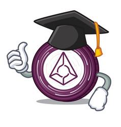 Graduation augur coin character cartoon vector