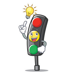 have an idea traffic light character cartoon vector image