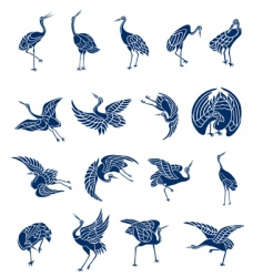 herons collection vector image vector image