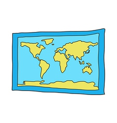 Icon world map vector