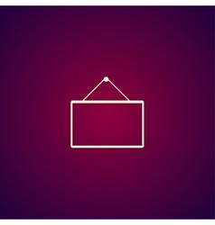 mathematical board icon vector image